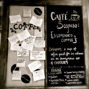 Uitgestelde koffie caffe sospeso